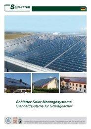 Schletter Solar Montagesysteme Standardsysteme für Schrägdächer