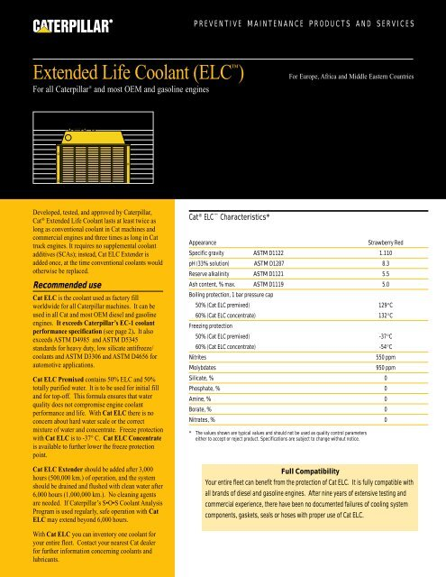 Extended Life Coolant - PEHP9557