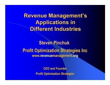 Revenue Management's Applications in Different Industries