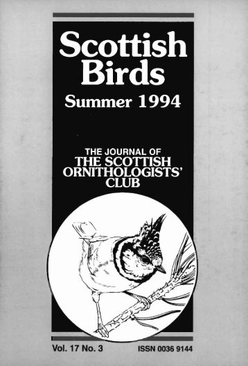 Vol. 17 No. 3 - The Scottish Ornithologists' Club