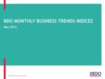 BDO Business Trends – May 2012 - Uk.com