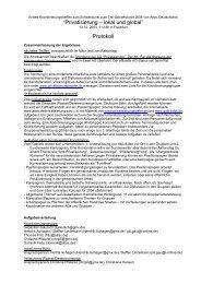 """""""Privatisierung – lokal und global"""" Protokoll - attac Marburg"""