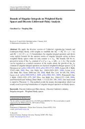 Bounds of Singular Integrals on Weighted Hardy Spaces and ...