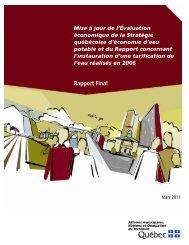 Mise à jour de l'Évaluation économique de la Stratégie québécoise ...