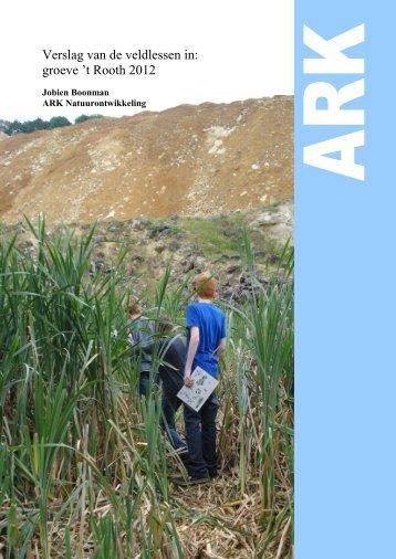Verslag Educatie 't Rooth 2012 - ARK Natuurontwikkeling