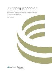 Rapport B200904 Utvärdering av funktion på slam och ... - Matkvarn
