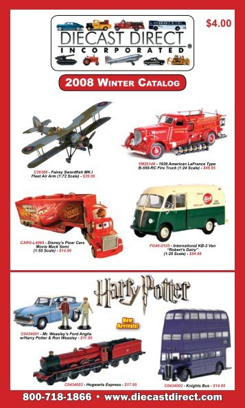 2008 WINTER CATALOG 800-7 8 - Die-cast Direct Inc.