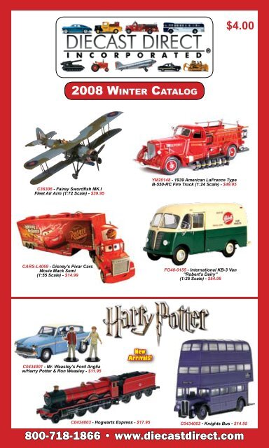 2008 WINTER CATALOG 800-7 8 - Die-cast Direct Inc