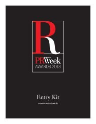 Entry Kit - PRWeek US