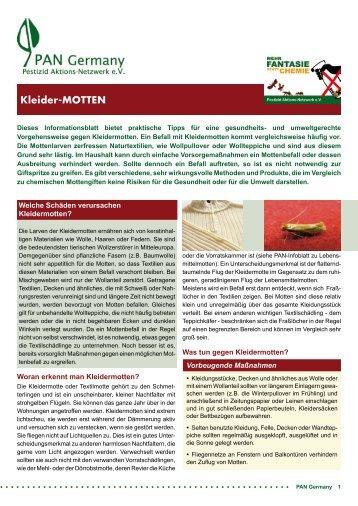 Kleider-MOTTEN - PAN Germany