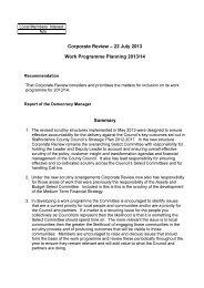Work Programme Planning 2013/14 PDF 158 KB - Meetings ...