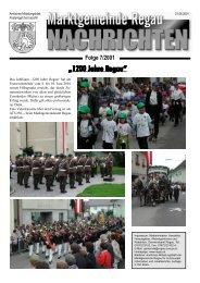 Gemeinde - Nachrichten Nr. 7/2001 - Regau