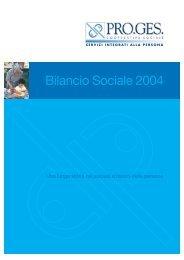 Bilancio Sociale 2004 - Pro.Ges.
