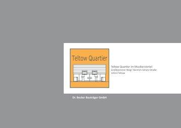 Broschüre kostenlos downloaden - Teltow Quartier