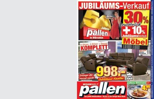 Jubiläums-Knaller - Wohnwelt Pallen