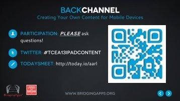Creating Your Own Content for iPad - TCEA