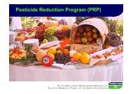 Pesticide Reduction Program (PRP) - PAN Germany