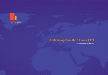 Final Results (Prelims) 2012 - Analyst Presentation - First Property ...