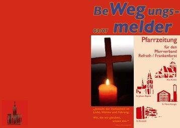 Pfarrzeitung Ausgabe 3/2007 - Kirchen-in-refrath.de