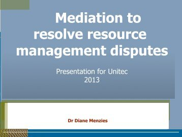 Mediation Presentation.pdf - Unitec