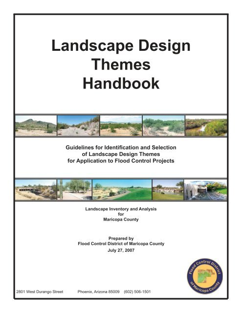 Landscape Design Themes Handbook Flood Control District Of