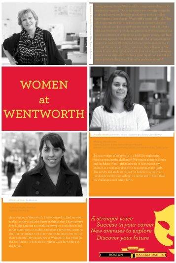 WOMEN at WENTWORTH - Wentworth Institute of Technology