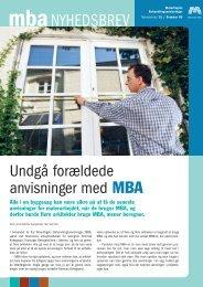 Hent MBA nyhedsbrev nr. 15 her. - Malerfagets ...