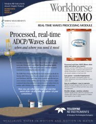 Processed, real-time ADCP/Waves data - RD Instruments