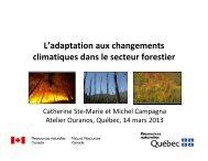 L'adaptation aux changements climatiques dans le ... - Ouranos