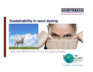 Sustainability in wool dyeing - IWTO