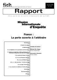 France : la porte ouverte à l'arbitraire - FIDH