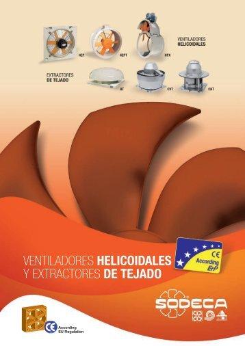 ventiladores helicoidales y extractores de tejado - Sodeca