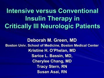 Intensive vs. Conventional Insulin Therapy in Critically Ill Neurologic ...
