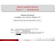 Génie Logiciel Avancé Cours 1 — Introduction - Stefano Zacchiroli