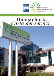 Carta dei servizi Dienstcharta