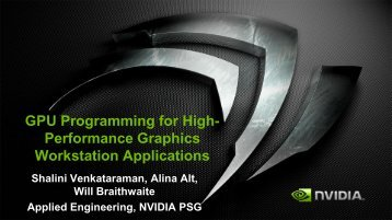 GPU Programming for High- Performance Graphics Workstation ...