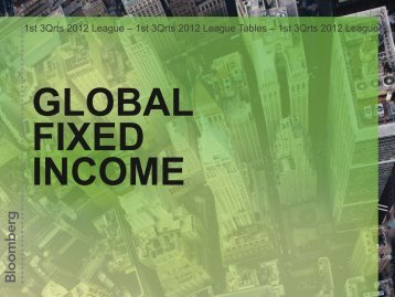 Global Fixed Income - League Tables - Bloomberg
