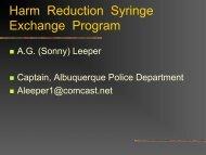 New Mexico Syringe Exchange Program – Law Enforcement Training