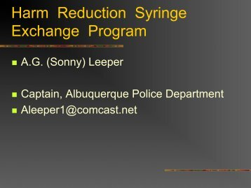 New Mexico Syringe Exchange Program – Law Enforcement Training