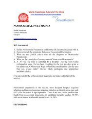Nosocomial pneumonia (10) - aagbi