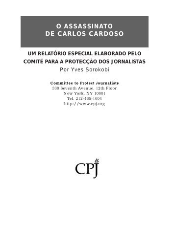 o assassinato de carlos cardoso - Committee to Protect Journalists