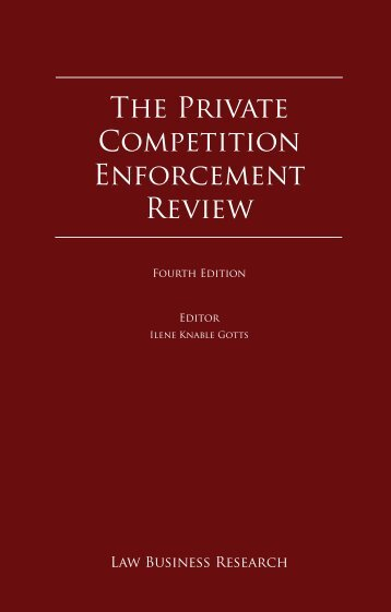 chapter on the private enforcement of competition law in ... - Mallesons