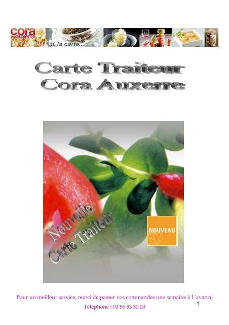 Carte Cora Essence.Carte Traiteur Cora Auxerre 2010 2