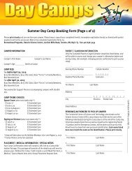 Summer Day Camp application form.pub - Ontario Science Centre