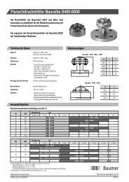 Flanschdruckmittler Baureihe D400-D600 - Baumer
