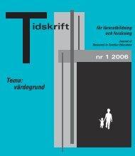 idskrift för lärarutbildning och forskning - DiVA