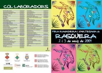 Diptic 2009 05 - Ajuntament de Rasquera