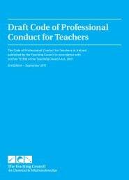 Draft Code of Professional Conduct for Teachers - TUI