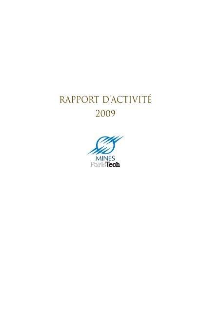 rapport d'activité 2009 - MINES ParisTech