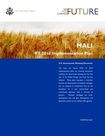 Mali FY2010 Implementation Plan - Feed the Future